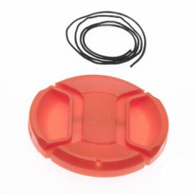 Produktbild: Objektivdeckel Innengriff rot 55mm