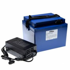 Produktbild: Akku für Elektrorollstuhl, E-Bike u.a. Li-Ion, 72V, 20Ah, blau + Ladegerät