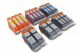 Produktbild: Tintenpatronen-Set für Canon 520/521-Serie + Chip (je 4x bk, pbk, cmy)