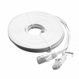 Produktbild: Ethernet Kabel Cat6, flach, RJ45 Stecker, weiß, 10m